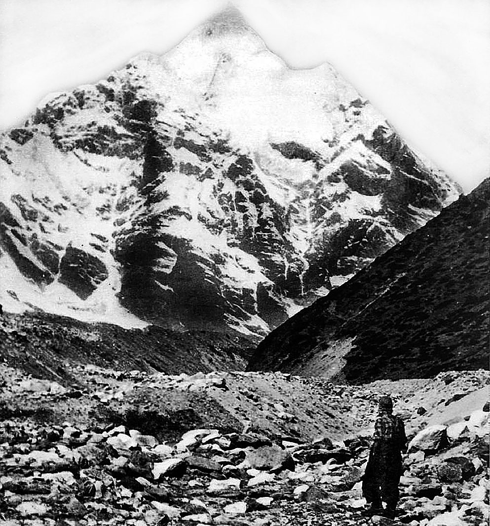 the accomplishments of man in conquering mount everest Satyarup siddhanta, an indian climber, holding in his right hand a photograph of him on mount everest, along with a version that he said an indian couple had altered.