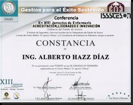¡Gracias! a Coordinación de Enseñanza Enfermería ISSSTESON