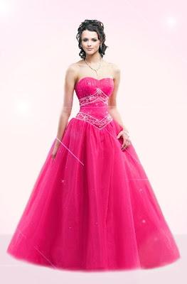 Prom Dress on Beautiful Pink Long Prom Dress