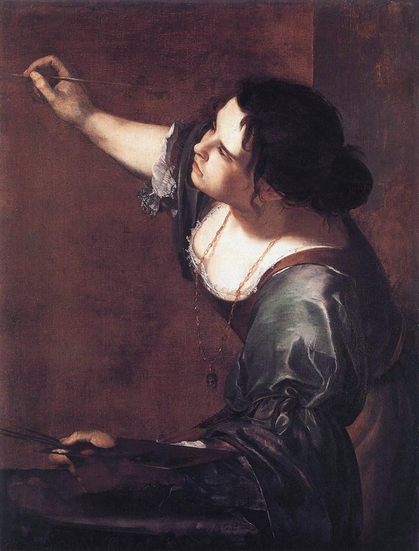Female artist artemisia gentileschi 1593–1653 self portrait as