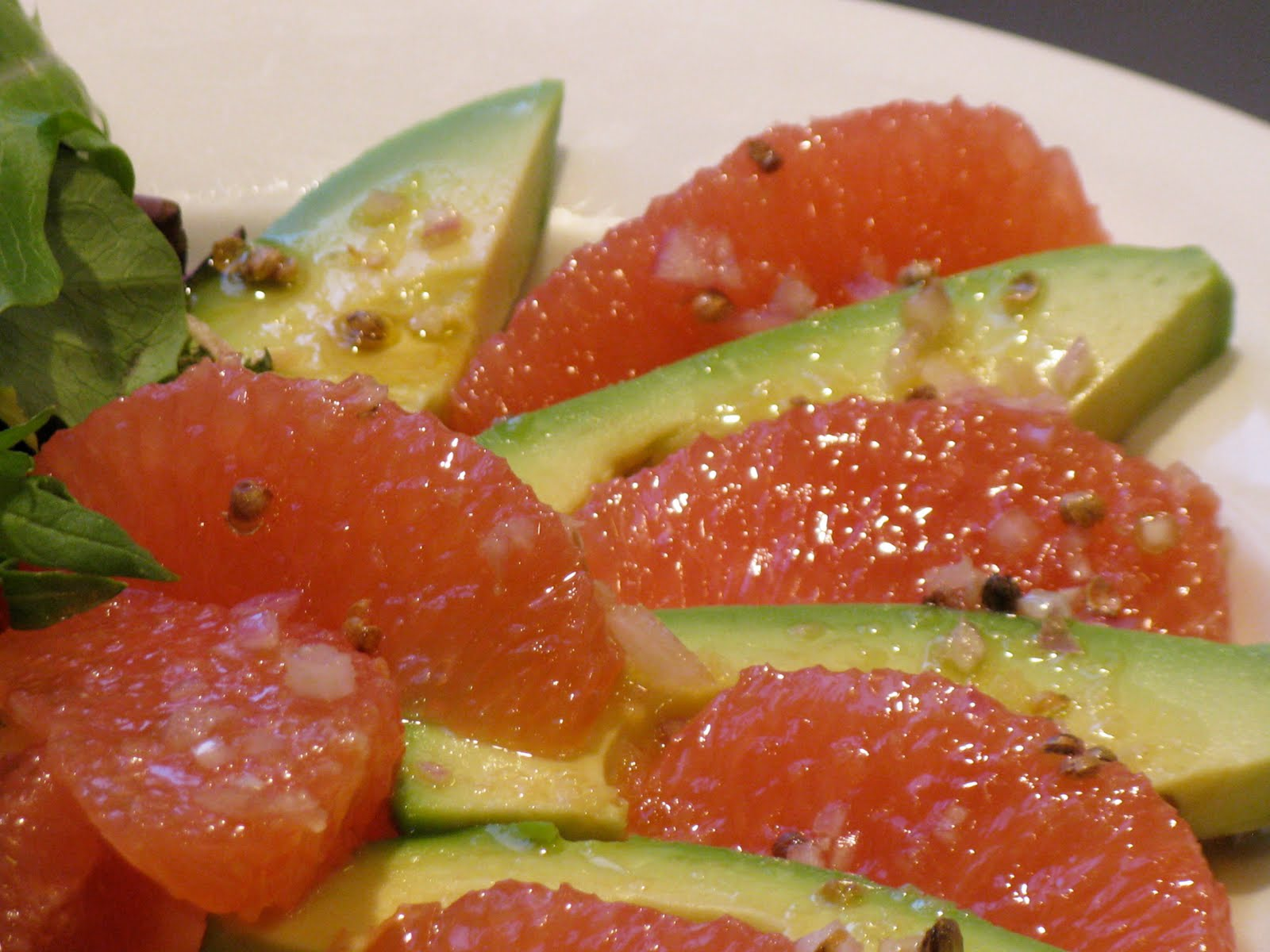 The Cilantropist: Avocado and Red Grapefruit Salad
