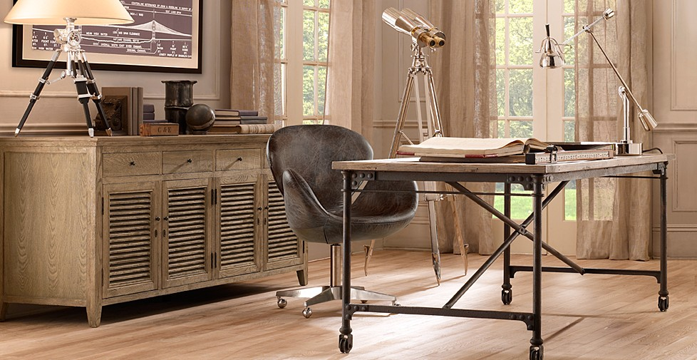 Poetic creations i covet restoration hardware Classic office furniture