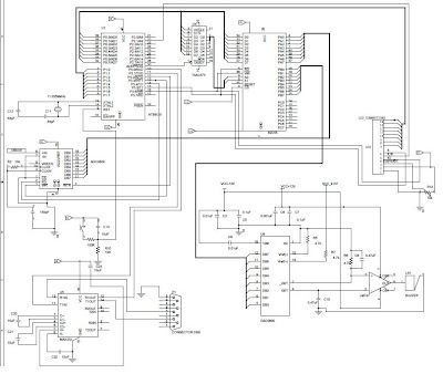 circuit diagram of the microcontroller project for humidity and clocking