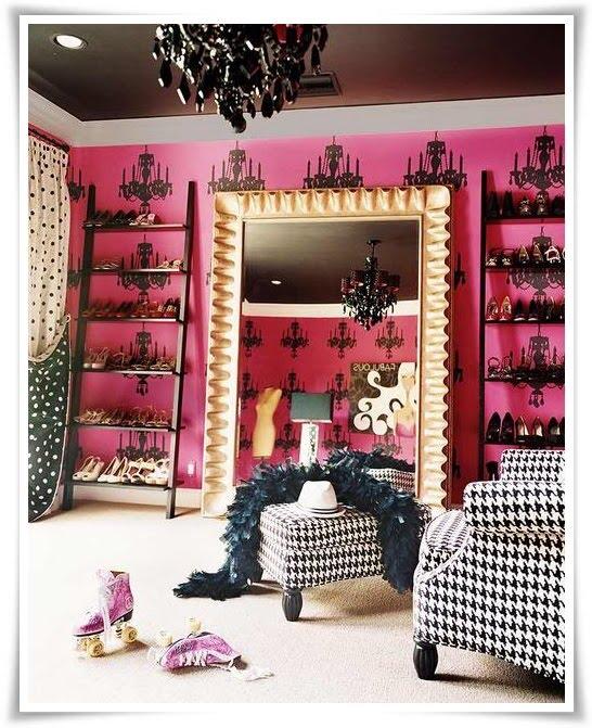 shoe closet the pink stilettos