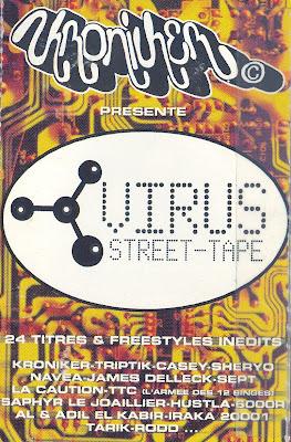 Les mixtapes comme on en fait plus de nos jours Kroniker-virus-front