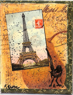 Faux Postcard - Eiffel Tower