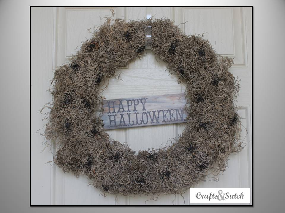 Creepy Spider Halloween Wreath
