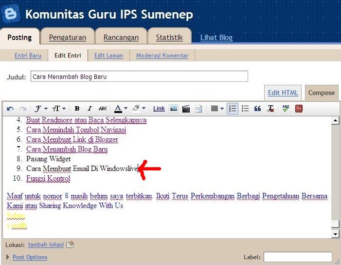No 9 Cara Membuat Email Di Windowslive , kemudian di Blog Cara Membuat ...
