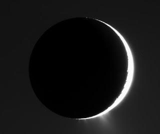 Encélado, una de las lunas de Saturno. NASA