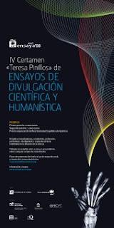 """V certamen de ensayos de divulgación científica """"Teresa Pinillos"""""""