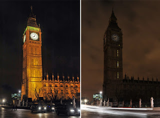 Londres se ha sumado a La Hora del Planeta. FRANCE PRESS