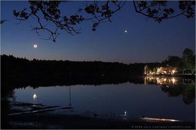 La Luna sobre el río Mullica