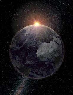 Recreación de la Tierra vista desde la Luna durante un eclipse. Foto: Gabriel Pérez Díaz.SSMM. IAC