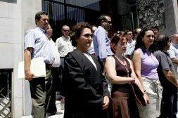 Los abogados del turno de oficio ante la Audiencia. MULLOR