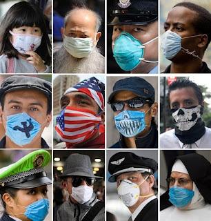 La gripe H1N1 se ha extendido rápidamente. En la imagen, personas de distintos países que intentan protegerse del virus con mascarillas. AFP