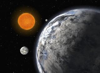 Ilustración de tres planetas extrasolares del tipo supertierra. ESO