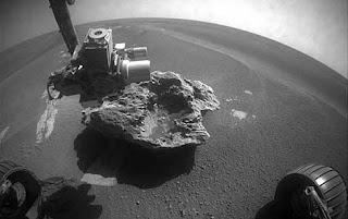 Imagen del fragmento de meteorito. NASA