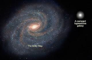 Comparación entre la Vía Láctea y una de las pequeñas galaxias encontradas. NASA
