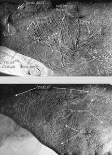 Una cueva navarra esconde un mapa de hace 13.000 años. Foto: Journal of Human Evolution