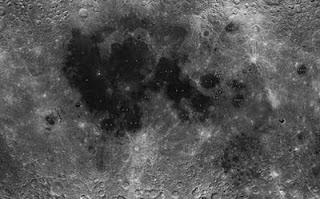 Una de las imágenes captadas por la sonda Chang'e-1 para realizar el mapa de la Luna. CNSA