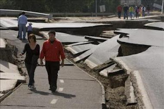 El terremoto de febrero abrió una larga ruptura visible en el suelo de Chile
