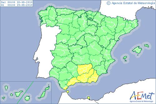 "Nuevo plan de avisos de meteorología adversa ""Meteoalerta"""