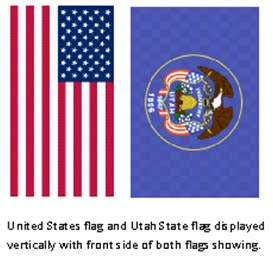 Utahs flagman the flags own right had this interpretation of heraldry been adopted we would simplify things by always displaying the front or obverse of the united states flag sciox Choice Image