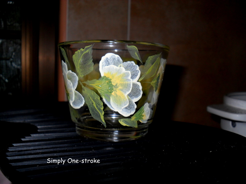 simply one stroke painting on glass