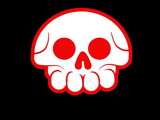 red logo skull