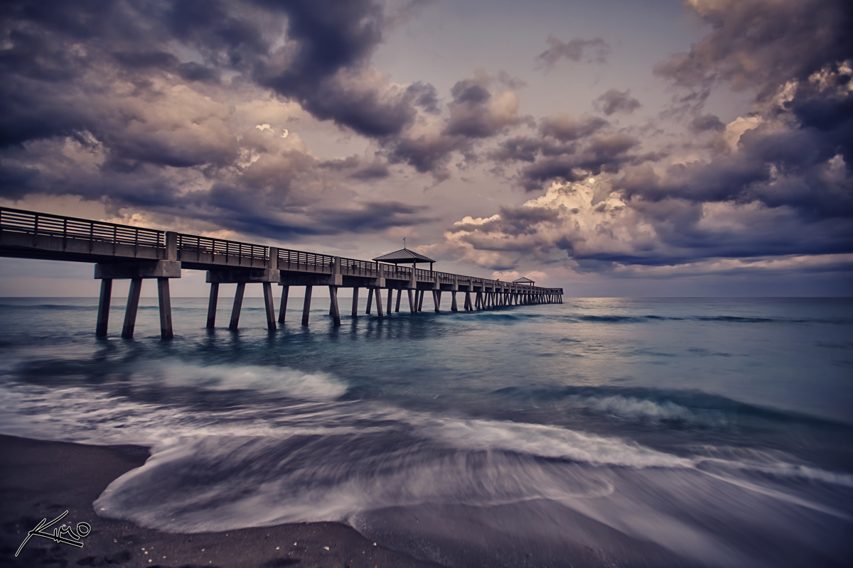 Jupiter real estate and lifestyle juno beach pier hdr photo for Juno beach fishing pier