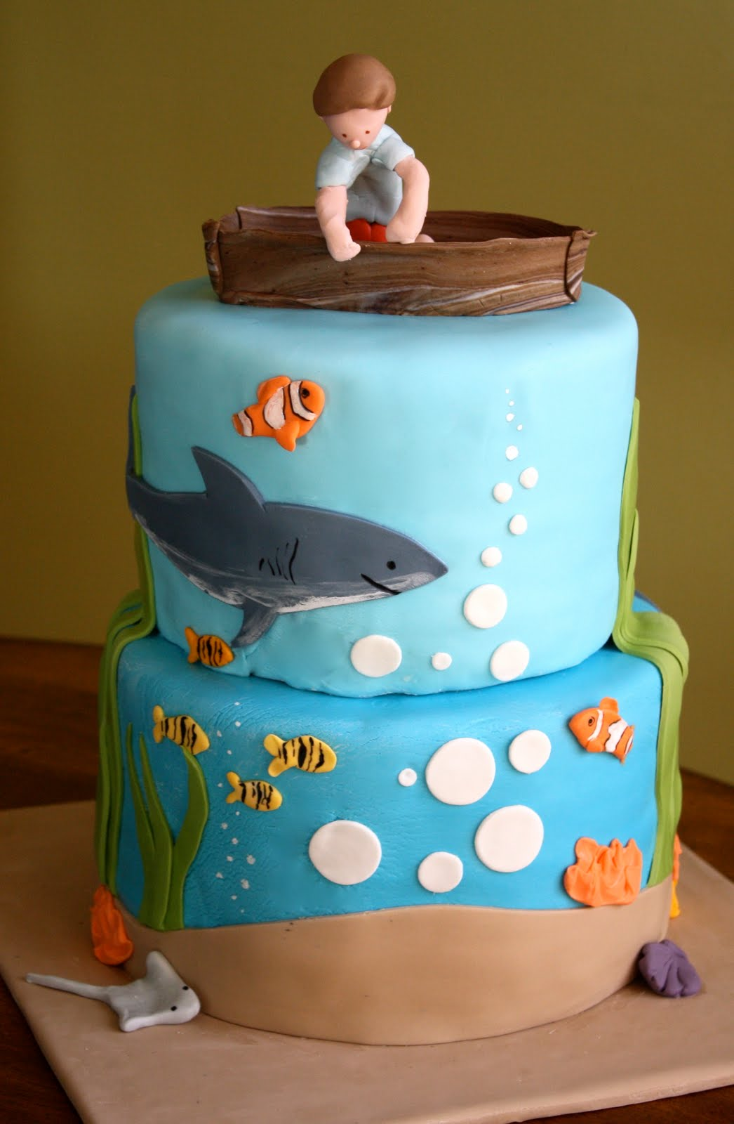 Design For Birthday Cake For Boy : Baker s Cakes: Under the Sea Birthday Cake!