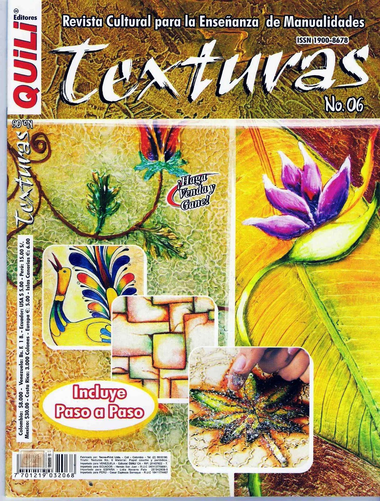 Revistas de Manualidades Para Descargar: Quili Texturas Nº 6