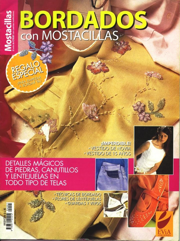 Revista: Bordados con mostacillas