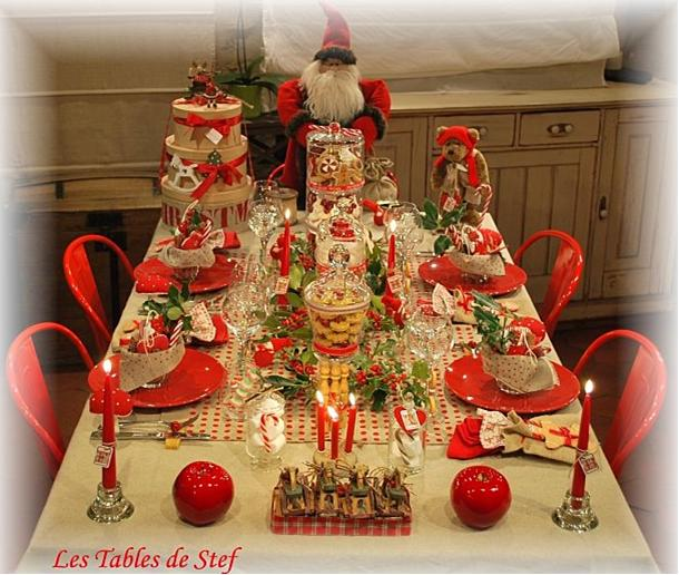 Ninon voyage au pays des septembrettes 2008 5 d cembre d co de table - Presentation table de noel ...