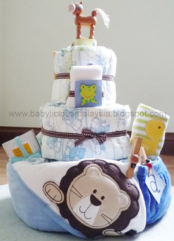 Newborn Baby Gift Ideas Malaysia : Babylicious diy diaper cake