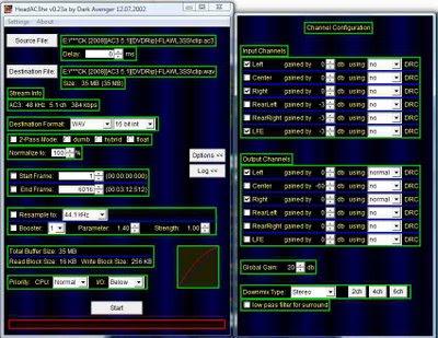 HeadAC3he channel extractor