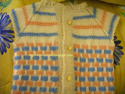 Vintage Crochet Baby Vest Pattern - Doll Babies Reborn Nursery