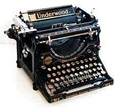 Gamle skrivemaskiner