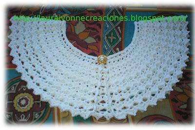 Laura Ivonne Creaciones: Cuello blanco en crochet