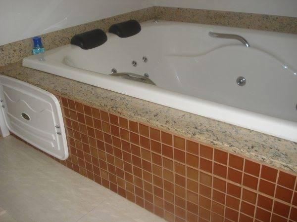 Serviço realizado no bairro Copacabana, Belo Horizonte  Aliança Construção e -> Banheiro Com Banheira Preta