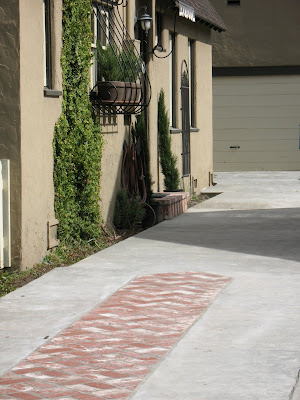 how to build a ribbon driveway