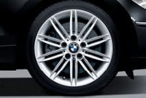 BMW light-alloy wheels double-spoke 207 M with mixed runflat tyres