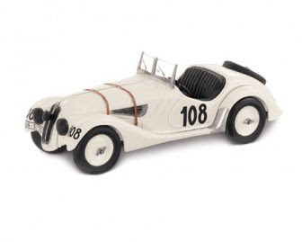 BMW 328 Roadster Mille Miglia 1938 miniature