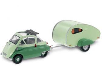BMW Isetta 250 Camping Trailer miniature