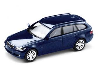 miniature BMW 3 Series E91 Mystic blue