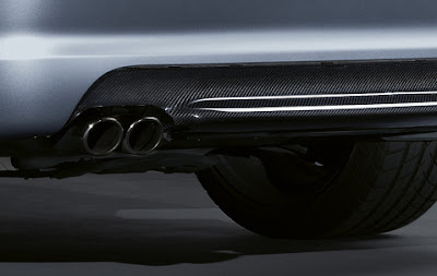 BMW diffuser in carbon for M aerodynamic kit