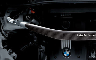 BMW Performance suspension cross-brace in carbon