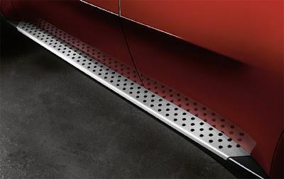 Aluminium running boards BMW X6