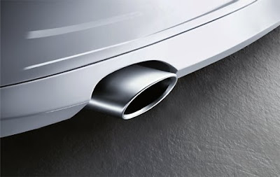 Exhaust pipe finisher in chrome BMW 1 Series