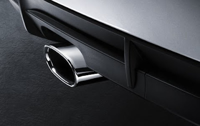 Exhaust pipe finishers in chrome BMW X3